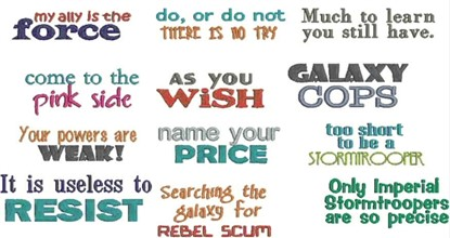 Picture of Star Wars Phrases